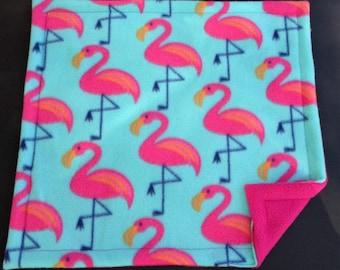 Cat Mat Flamingo, Catnip Nap Mat Bed, Kitten Play Mat, Refillable Reversible Machine Wash Fleece