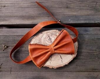 Leather bow tie ,brown bow tie, brown bow tie, brown tie, brown leather, original bow tie, handmade bow tie, bow tie