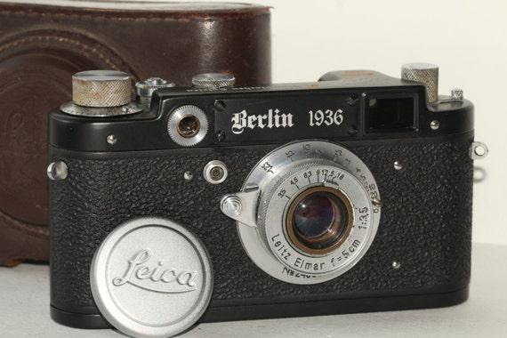 Leica Russian Replica & Lens Elmar f3.5/50mm Silver/Black Case (FED Copy) N048