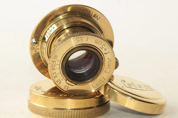 Gold Leitz Elmar 50mm/3.5 Lens for Leica M39 FED Zorki N1