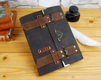 Medieval Journal Leather, Personalized Journal, Cosplay journal, Diary, Notebook, Brown leather Journal, Personalized Gift