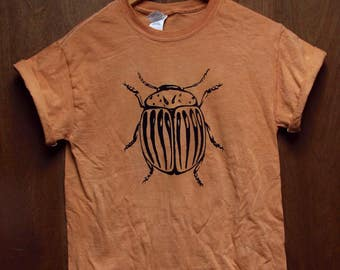 Potato Beetle  Shirt, Screen Printed T-shirt