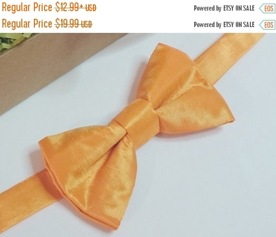 Winter Sale Sale CLEARANCE  Adult and Children's Citrus Orange Taffeta Pretied Bowtie Wedding Prom Special Ocassion