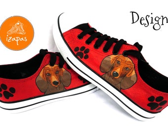 Dachshund Shoes Sneakers Smooth Short Haired