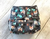 Cloth Diaper *One size or Newborn or Toddler size* All in two, Pocket, or Cover  **Aztec Fox**