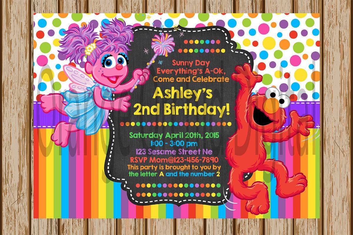 Sesame Street Baby Shower Invitations – gangcraft.net