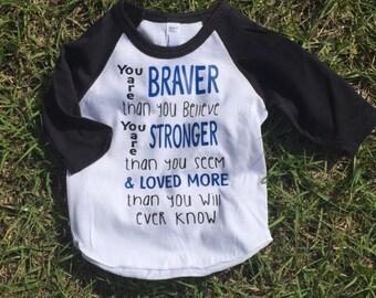 Infant-Toddler Raglan Tee-Shirt, Braver Than Seem Shirt, Strong Shirt, Infant Toddler Shirt