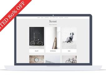 80% OFF - Scout - Portfolio WordPress Theme - Portfolio Template - Minimal Theme - Website Template - Self Hosted - Instant Download