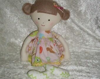 Ava cloth doll, handmade soft toy doll, newborn gift, first doll