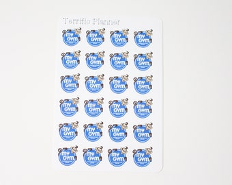 24 My Gym stickers! Perfect to use on planners like Erin Condren, Plum Paper, Filofax, Kikkik, Limelife and more. #49