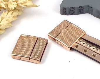 clasp magnetic RARE flashed rose gold leather 20mm