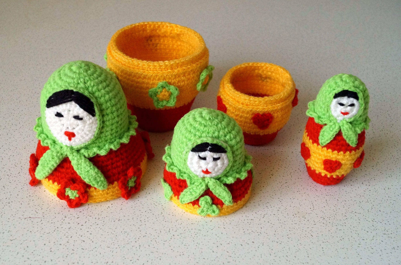 Amigurumi Russian Doll Pattern : Russian doll amigurumi crochet pattern pdf babushka pattern doll