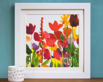 Flora Watercolour Mounted and Signed Print