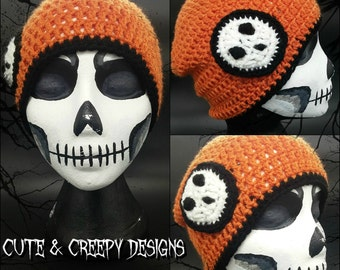 Orange Ghost Beanie