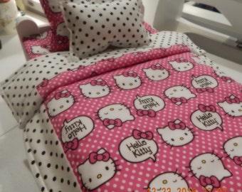 Doll Bedding - Hello Kitty