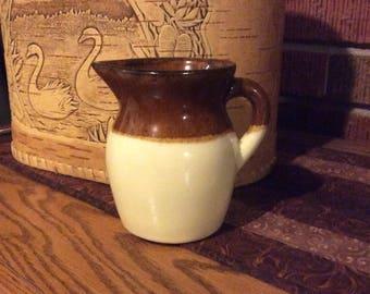 Roseville pitcher, vintage pitcher, small Roseville pitcher, Roseville pottery, antique pitcher