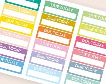 18 blank stickers, due today bar sticker, box stickers, blank label, planner stickers, scrapbook reminder happy planner sticker