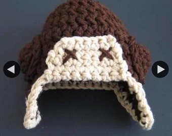 Aviator crochet hat