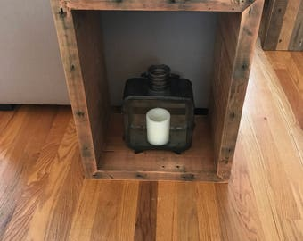 Reclaimed Wood Side Table || End Table-Natural