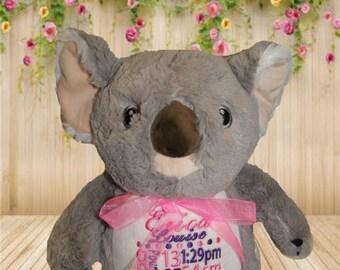 Koala Cubbie-personalised toy, plush toy, baby toy, christmas, birthday, baby shower, soft toy, wedding, kids, baby, boyfriend, mum, dad