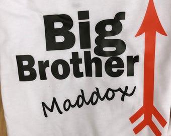 Sibling I Big Brother I Little Sister I Big Sister I Little Brother  I Custom I Shirt I Baby I Infant I Boy I Girl I I TShirt I