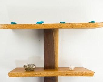 Live Edge Shelf/Cherry Wood/Black Ash Wood/Stingray Shelf