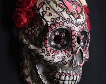 Calavera / Sugar Skull Mask (Red) ÷ Paper Mask