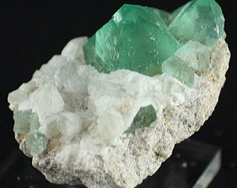 Fluorite, Green Octahedral Crystals, South Africa  Mineral Specimen for Sale