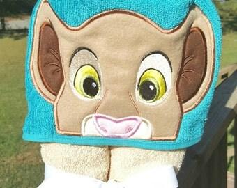 Princess Lion Kiara  Hooded Towel with FREE EMBROIDERED NAME