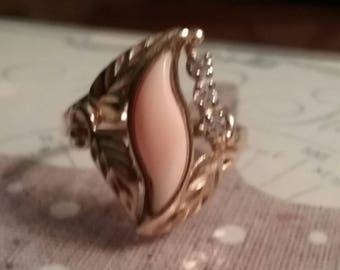 Flame coral ring
