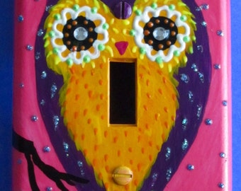 Owl single light switchplate