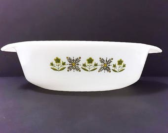 Meadow Green Fire King Anchor Hocking Casserole Dish