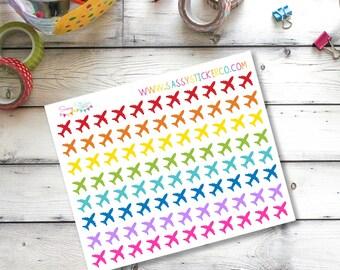 D8 Airplane plane flight tracker travel stickers for Erin Condren Life Planner