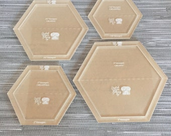 Paper piecing etsy hexagon large set english paper piecing templates new hexagon setting blocks pronofoot35fo Images