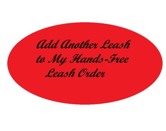 Adjustable Hands Free Leash Extra Leash, One Additional Leash, Running Leash, Jogging Leash