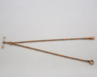 18ct Rose Gold & Platinum Albert c1890 24.5 grams