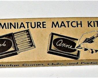 Miniature Match Kit Mid Century Collectible