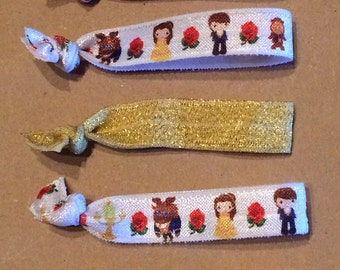 Beauty and the Beast Elastic Hair Ties