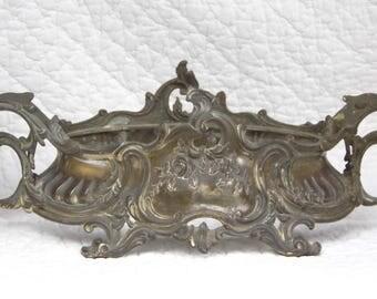 Jardinière ancienne en métal argenté sur cuivre. Fin 19e siècle