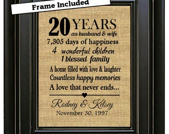 20th anniversary | Etsy