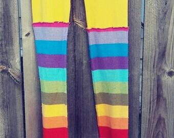 Rainbow Ruffled Leggings