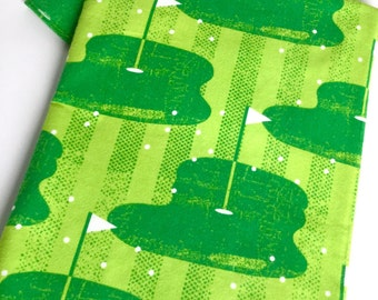 Golf baby flannel blanket in greens and extra large size-- personalize -hobbies - specialty -novelty -infant