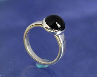 Black Onyx Ring Sterling Silver Handmade