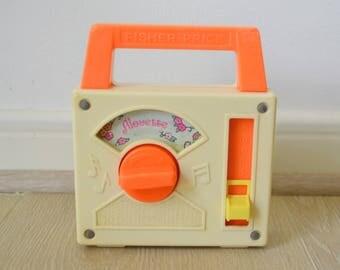 Music Box Fisher Price vintage, 1981, music box