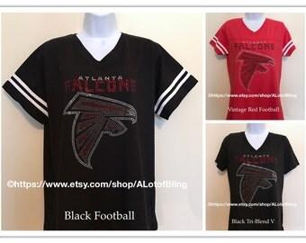 Altanta Falcons Rhinestone T-Shirt