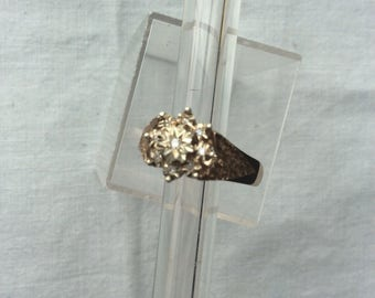 Vintage diamond 9ct gold ring by MS & S size ukQ