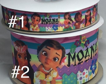 Moana Grosgrain Ribbon, Ribbon by the Yard