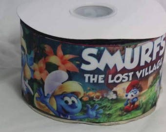 "3"" Smurfs Grosgrain Ribbon"
