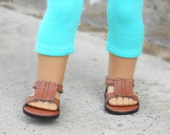 Turquoise/Blue/Teal Capri Leggings for American Girl Dolls