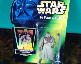 Star Wars Power of the Force Tusken Raider with Gaderffii Stick 1990's Kenner